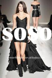 The fashion short in front long in back dresses 2012