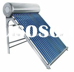 Vacuum tube non-pressure home use stainless steel plate solar hot water heater