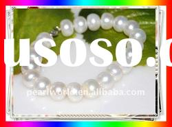 Very Nice Pure White Fashion Freshwater Pearl Bracelet