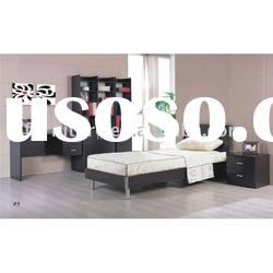 #BS0903 modern bedroom furniture set in dark walnut