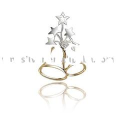 [PZA-0977] 925 Silver Jewelry, Sterling Silver Pendant , Silver Pendant with CZ stone for Christmas