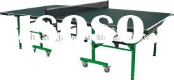 (SJ-201) Single Folding Tennis Table,Movable Ping Pong Table,Indoor Table Tennis Table