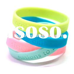 best promotion gift debossed color filled silicone bracelet