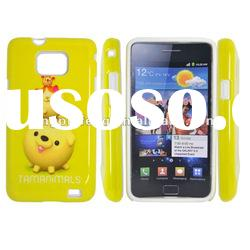 desinged pc silicone case with water-transfer printing for samsung galaxy s2 i9100