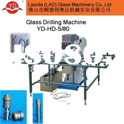double drilling heads glass horizontal double heads drilling machine