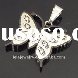 fashion stainless steel metal butterfly pendant popular with boys and girls