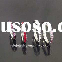 fashion stainless steel rings jewellery with crystal