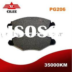 front brake pad for Peugeot 206