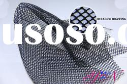 high quality! 100% polyester black mesh fabric for garment