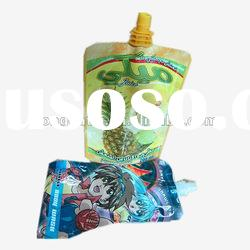 laminated antibacterial stand-up spout pouch plastic bag
