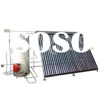 separated pressurized solar collector stainless manifold heat pipe solar water heater