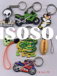soft PVC key chain, 3D key chain