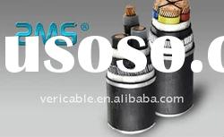 steel wire armored cable with copper conductor PVC insulated