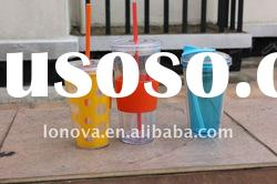 straw cup double layer plastic cup straw cup of plastic cup of ice
