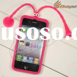 v- Free Shipping Abons TPU Case With Tentacles Suction Cups For iPhone 4 4s LF-0494