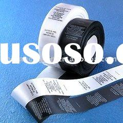 100% polyester double side printing satin ribbon for labelling and packing