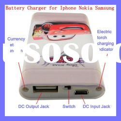 2000mAh Portable Rechagable Battery Charger for iPhone Nokia Blackberry Samsung