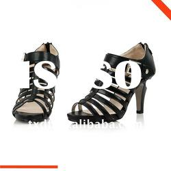 2012 Black Gladiator summer shoes for women, fashion shoes