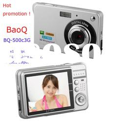 2012 HOT!!! Compact Digital Camera with Rechargeable Li-ion Battery BQ-500C3G