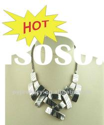 2012 New Design Chunky Square Necklace Jewelry, High Metal Alloy Necklace