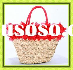 2012 New Design Hot Sale Natural Straw Beach Bag