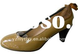 2012 new design lady spring genuine leather shoes