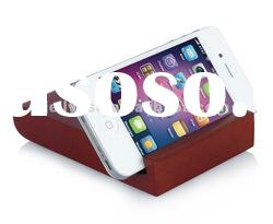 2012 universal holder for Iphone wood stand, cell phone display holder stand accessories