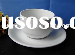 220CC white ceramic coffee cup and saucer
