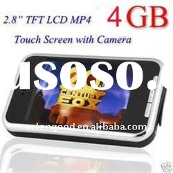 2.8 inch TFT touch mp4 player with camera