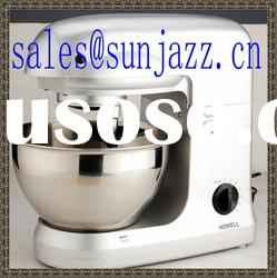 6 speeds stand mixer with stainless steel fixed bowl