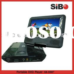 "7"" portable dvd player+lithium battery+usb port+memory card reader"