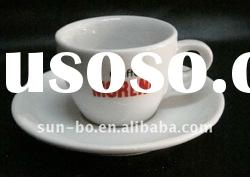 80-100CC super white ceramic coffee cup and saucer