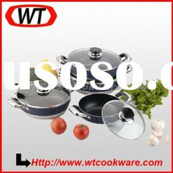 8pcs marble coating nonstick cookware set