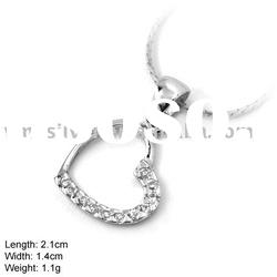 925 Silver Jewelry, Sterling Silver Pendant with CZ Stone, without MOQ (DZ-840)