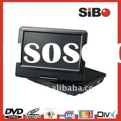 9 Inch 270 Degree Swivel Screen Divx DVD Player With USB And SD Card Reader