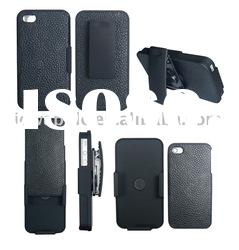 A set of PU Leather Back cover + Holster case for iPhone 4G