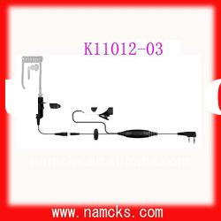 Acoustic clear tube earpiece for walkie talkie