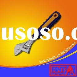 Adjustable Wrench With Rubber Handle