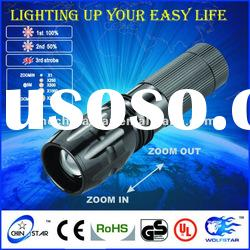 Aluminum Led Zoom Flashlight Torch