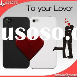 Beautiful Heart shaped couple case for iphone 4
