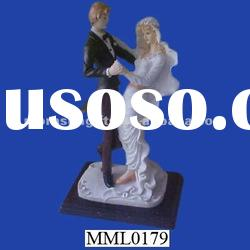 Bride and Groom Poly Resin Statue Wedding Accessories