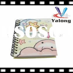 Cartoon hard cover spiral notebook wholesale