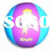 Colorful blow up beach ball