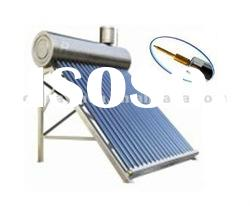 Compact high pressure heat pipe vacuum tube solar heater with assistant tank