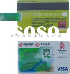 Credit Card USB flash drive with PP box as business gift