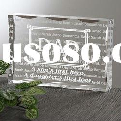 Crystal Glass Block Paper Weight /Fathers Day Gifts