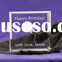 Cube Crystal Personalized Gift With your LOGO Engraved For Gifts