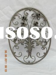 Decorative wrought iron gate parts