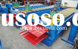 Double deck roof board roll forming machine XF1075/1116