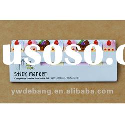 FOURBOOKS Colorful Painted Writing Paper Self-adhesive Sticky Note:Dessert